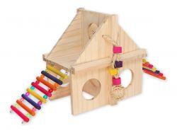 Parquinho Casinha Brinquedo Para Roedores Hamster Gerbil