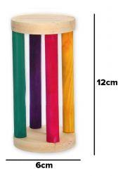 Porta Feno Alfafa Cilindro Colorido 12x6cm Para Roedores